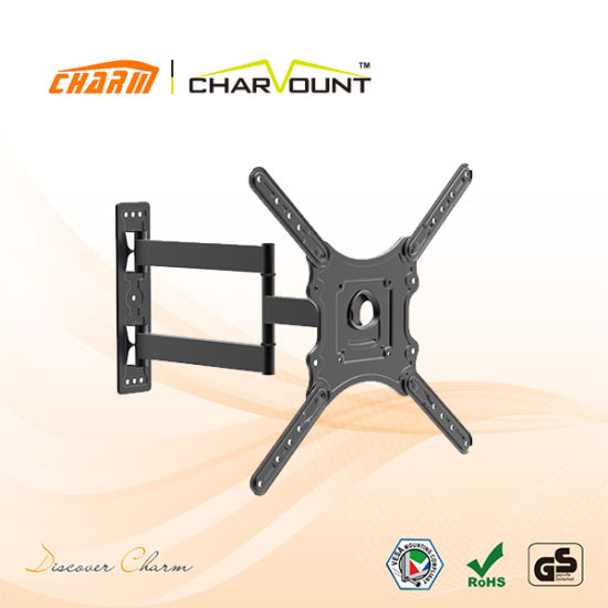180 Degree LCD TV Bracket Mount with Plastic Cover Cable Management (CT-LCD-L02MVEN)