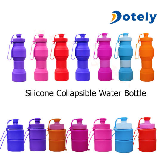 800ml Foldable Soft Silicone Sport Water Bottle Reusable Collapsible Climbing Biking pictures & photos