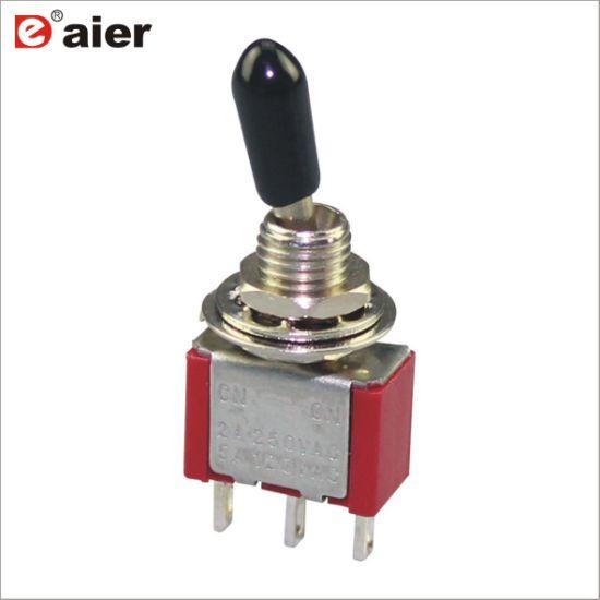 China 6mm 2 Way Locking 3 Pin on-on Spdt Mini Toggle Switch
