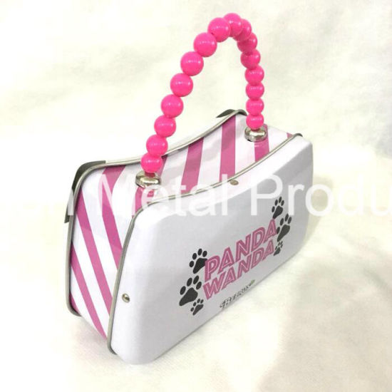 Wholesale Customized Cute Gift Tin Box with Handle for Candy pictures & photos