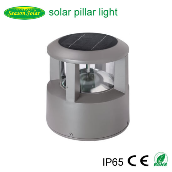 Die-Casting Aluminum Energy Saving Decoration Lighting Solar Bollard Outdoor Garden Light