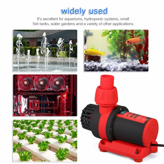Variable Frequency Centrifugal Submersible Solar DC Brushless Aquarium Water Circulation Pump for Fish Tank, Energy-Saving Pump, OEM & ODM pictures & photos