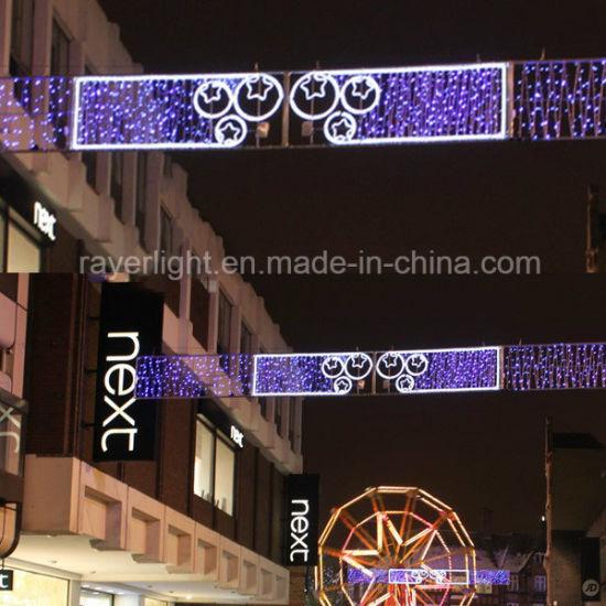 110V/ 220V Outdoor LED Lighting Figures Christmas Cross Street Decoration