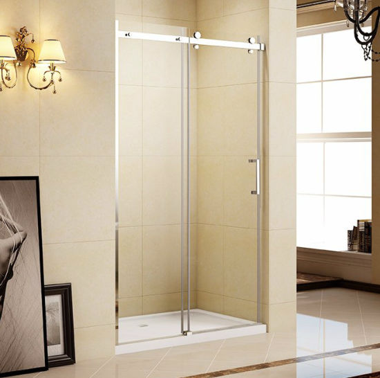 Attirant Frameless Big Roller Shower Screen Door