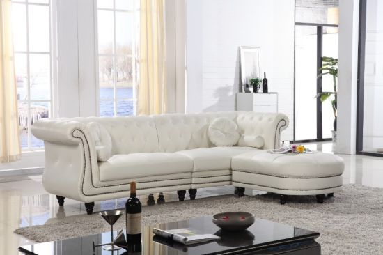 Leather Sofa Set in Living Room Furniture