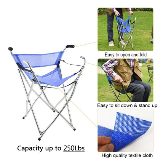 Fantastic Lightweight Collapsible Bench Adjustable Stick Chair With Sponge Handle And Anti Skid Silicone Feet For Elderly Machost Co Dining Chair Design Ideas Machostcouk
