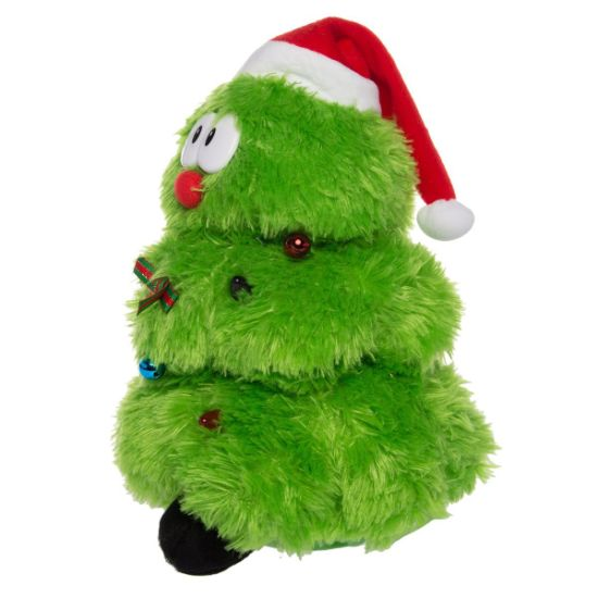 simply plush animated stuffed animal toy singing dancing light up figure singing dancing christmas tree