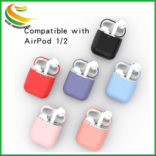 2019 New Products Wholesale Price for Airpod 1/2 Silicone Case, 16 Colors