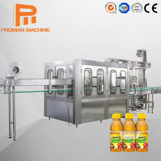 Automatic Siemens PLC Control Hot Fruit Juice Tea Coconut Water Beverage Bottling Production Processing Filling Machine Line for Drinking Plant