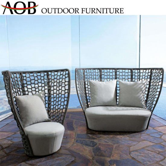 Chinese Contemporary Modern Outdoor Garden Patio Leisure Lounge Couch Rope  Sofa Furniture