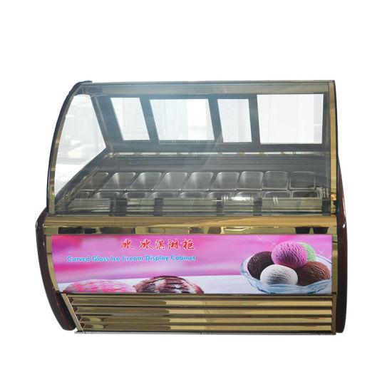 Ice Cream Showcase Supermarket Refrigeration Merchandise Wholesale