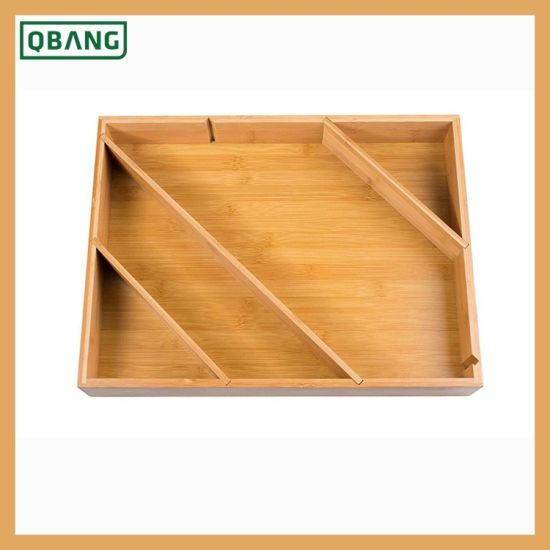 New Design Heavy-Duty Anti-Slip Cutlery Tray/ Cutlery Drawer Organizer Sliverware Holder pictures & photos