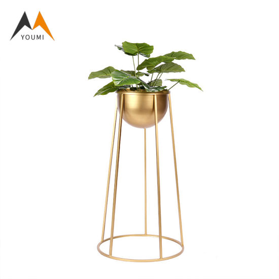 Chinese Factory Supplier Luxury Gold Wedding Decoration Flowering Pots