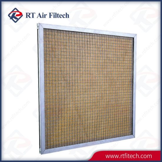 High Temperature Primary Efficiency Panel Air Filter