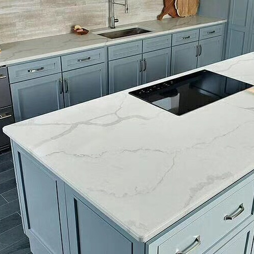 Wholesale Vanity Top Paper Rock Kitchen Top Island Tables Quartz Countertop