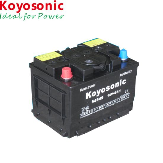 12V 45ah Dry Charged Battery Storage Car Battery Auto Battery