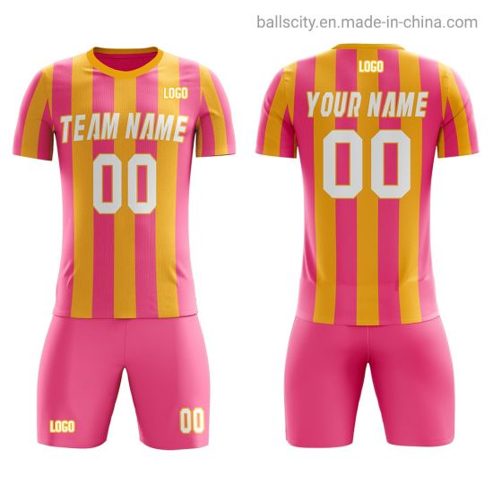2019 Wholesale Newest Design Your Own Name and Number Fashion Custom Round Collar Soccer Jerseys Sportswear