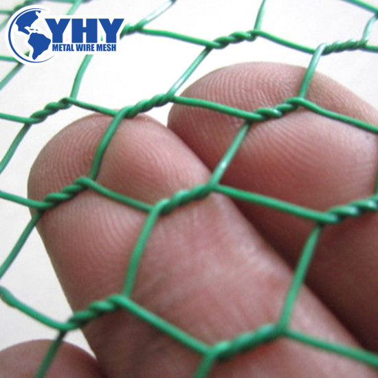 """2-1/4""""PVC Coated Hexagonal Metal Wire Mesh for Crab Cage"""