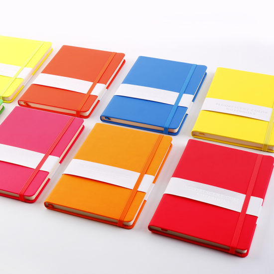 Promotion Gifts A5 Leather Cover Paper Notebook for Office School Use