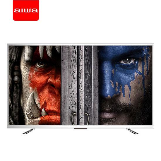 D18m 55 Inch Aiwa Metal Frame Flat Screen Ultra Slim Android Smart UHD 4K LCD LED TV, HiFi Music TV