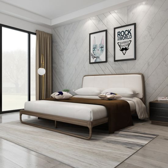 Modern Hotel Furniture Wooden Bed Room Bed Double Bed