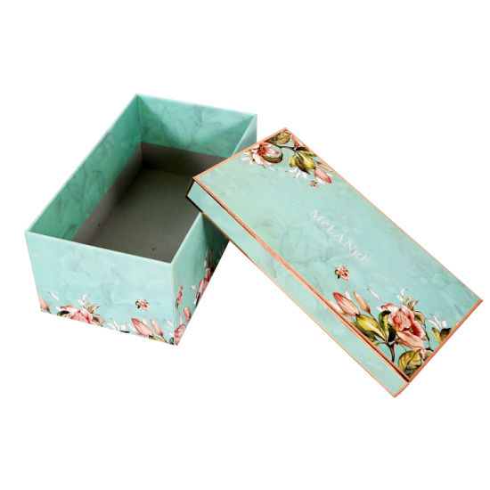 Hot Selling Gold Stamping Rigid Cosmetic Paper Packaging Gift Box