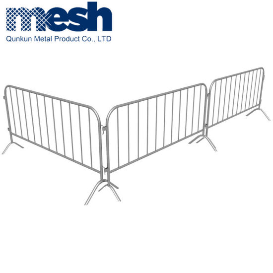 Galvanized Crowd Control Barrier with Flat Feet