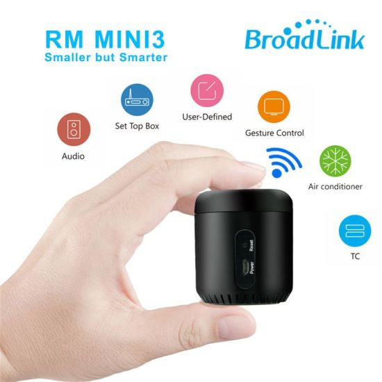 Broadlink RM Mini 3 IR+4G+WiFi Remote Control Work with Alexa Google Home S2 Kit Shub RF Security Alarm Detector Motion Sensor pictures & photos