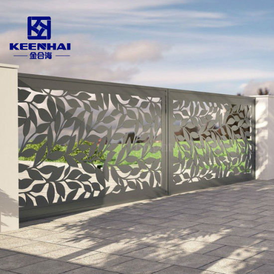 Powder Coated Outdoor Aluminum Screen Garden Fence Panels