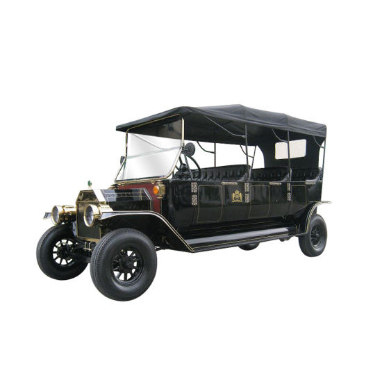 8 Seats 48V AC Motor Electric Vintage Sightseeing Classic Car Made in China