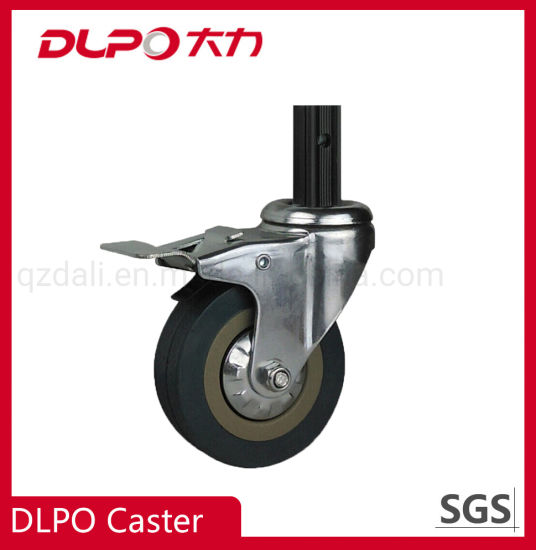 Dlpo Light Duty 100/125/150mm Square Stem Swivel Caster with Brake