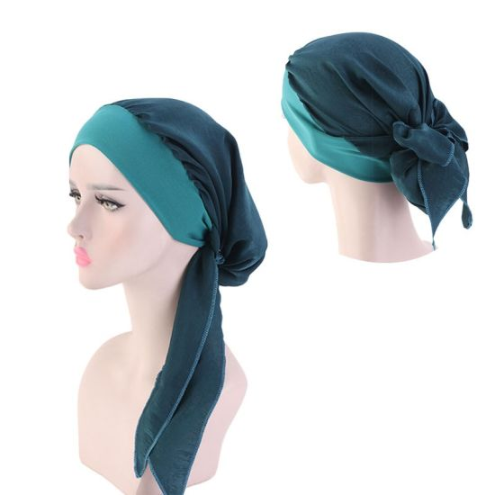 Muslim Ladies Women Braid Chiffon Silk Bandanas Head Wear Wrap Turbans