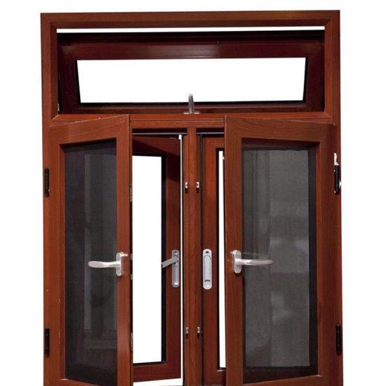 Aluminum Frame Single/Double Tempered Glass Swing Window