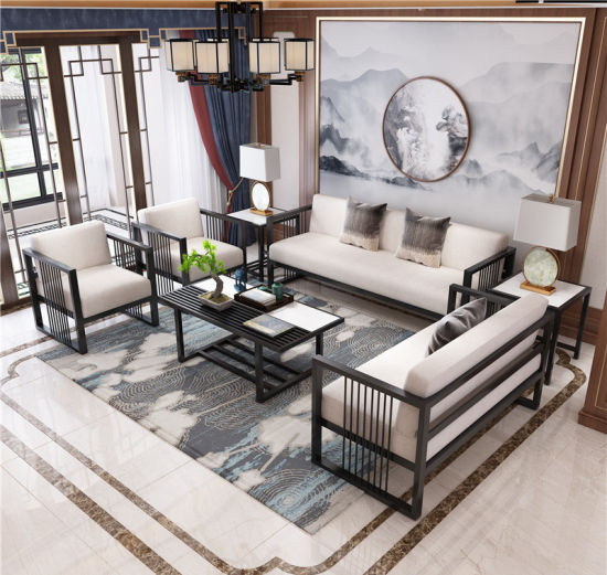 China High Quality Wrought Iron Sofa Furniture With Coffee Table China Office Furniture Furniture