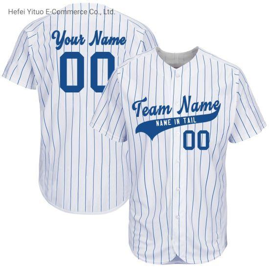 Customized Pattern Fashionable Design White Ground Baseball Jerseys