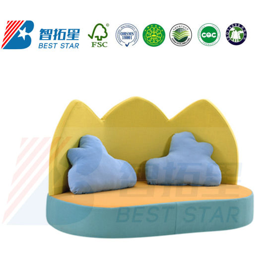 Kids Nursery Furniture, Preschool and Kindergarten Day Care Sofa, Children Playground Furniture, Home Furniture and Living Room Baby Sofa