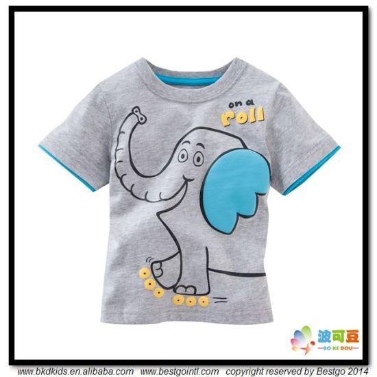 Animal Printing Baby Garment OEM Service Newborn T-Shirt