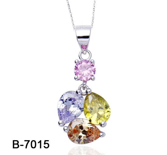 925 Sterling Silver Ring with Crystal Cubic Zirconia Pendant Necklace