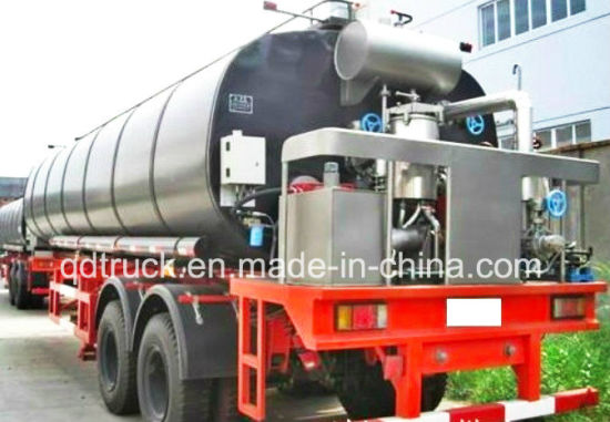 30 50 cbm liquid asphalt tank trailer with diesel heating burner