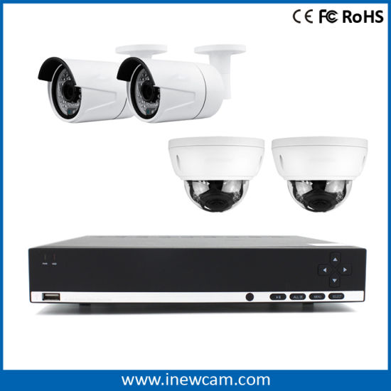 New H. 264 16CH 4MP/3MP Poe P2p Network Video Recorder pictures & photos