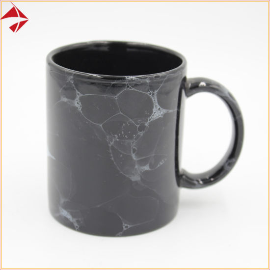 Stoneware Marble Standard 11oz Porcelain Ceramic Coffee Mug for Drinking pictures & photos