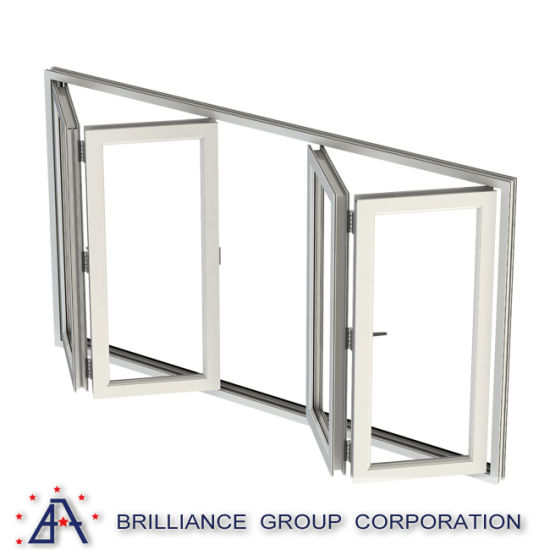 China Waterproof Interior Bifold Doors Frosted Folding