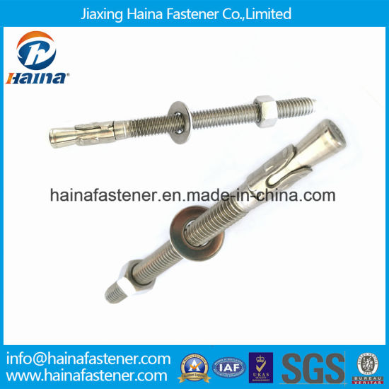 Chinese Supplier Stainless Steel Anchor Fasteners Wedge Anchor Bolt