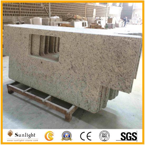 Prefab Granite Brazillian Rose White Granite/Stone Kitchen Countertop