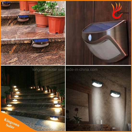 8 LED Outdoor Solar Security Stair Light with Motion Sensor pictures & photos