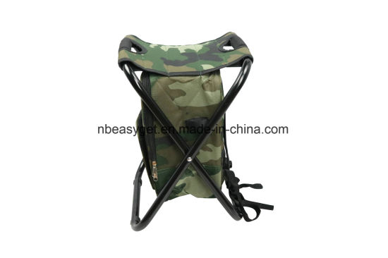 Folding Chair Foldable Camouflage Backpack Cooler Bag 3 In