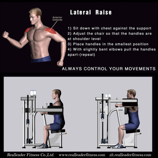 Fitness Equipment / Gym Equipment for Seated Lateral Raise (M7-1002) pictures & photos