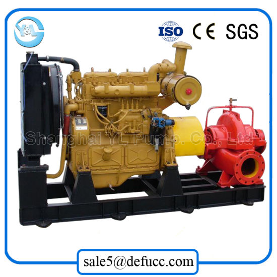 Horizontal Diesel Split Case Centrifugal Water Pump for Draining Station pictures & photos