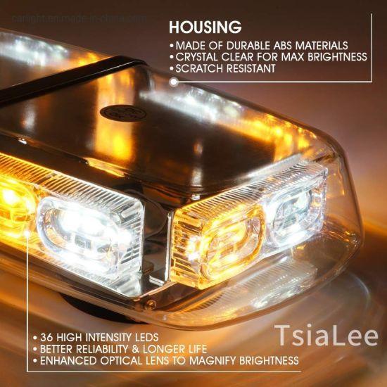 DOUBLE SIDE 36W LED WORK LIGHT BAR BEACON FLASHING WARNING STROBE LIGHT WHITE