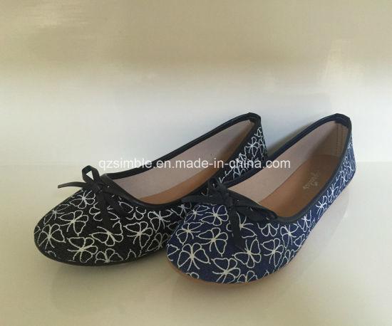 New Canvas Women Ballerina Flat Shoes